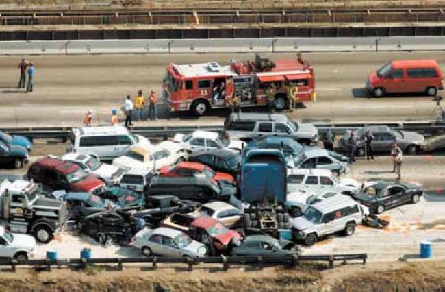 Image result for photo of multi car crash